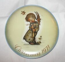 Vintage Hummel 1971 Limited First Edition Christmas Plate Excellent Condition