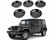 5pc Black Door Handle Recess Guards For 2007-2017 Jeep Wrangler JK 4 Door New