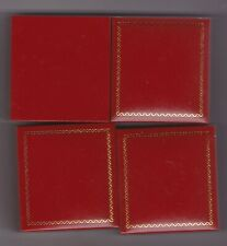 More details for four empty fancy red boxes for full sovereign coins in good condition