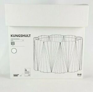 """Ikea KUNGSHULT Lamp Shade Large Floor/Pendant/Table Pleated White 17"""" New"""