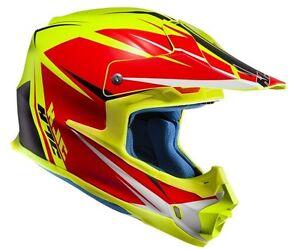 Casco Helm Casque Helmet HJC FX-CROSS AXIS GIALLO XS