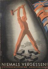 Anti Fascist/Hitler Pamphlet Art/Politics Many Images 1947 Germany
