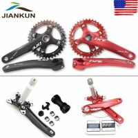 104bcd MTB Road Bike Crankset 170mm Crank Arm BB Round Oval Chainring Chainset