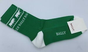 Bally Animals Green Cotton Socks Size Small Made in Italy