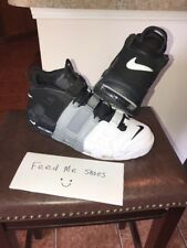 2017 Nike Air UPTEMPO BLACK COOL GREY WHITE AIR MORE 96' Size 13