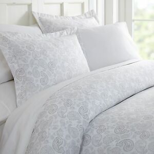 Hotel Collection Soft 3 Piece Coarse Paisley Print Duvet Cover Set by iEnjoy