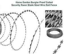 150m Home Burglar Proof Coiled Fence Security Razor Blade Barbed Steel Wire Roll