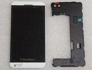 BlackBerry Z10 LCD 4G White Screen & Digitizer+Middle Frame +Back housing OEM