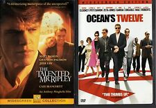 TALENTED MR RIPLEY & OCEAN'S TWELVE-2 movies-MATT DAMON in daring,tricky schemes