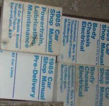 1985 FORD MUSTANG CAPRI THUNDERBIRD MARK Service Shop Repair Manual Set OEM 4 BK