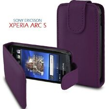 Flip PU Leather Case Cover Pouch PURPLE For SONY-ERICSSON ARC S (LT18i)
