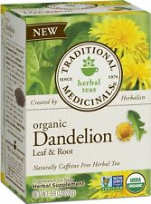 Traditional Medicinals Herbal Tea, Dandelion Leaf and Root, 16 Count, (Pack of 6