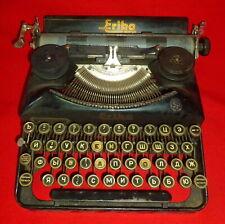 Vintage German Typewriter Erika by Naumann Cyrillic ABC Original Case NICE