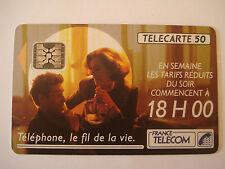 PHONECARD TELECARTE PUBLICITE TARIFS FRANCE TELECOM