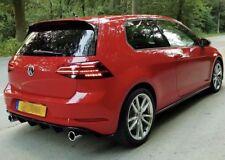 Facelift Golf 7 GTI Diffusor Heckansatz Heckdiffusor VW Golf 7,5 Gtd Bumper