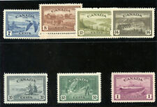 Canada 1946 kgvi pace re-conversion SERIE COMPLETA MLH. SG 401-407. SC 268-c9.
