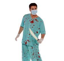 adulto unisex SANGUINOSO Zombie chirurgica Scrubs medico Costume Halloween