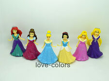 Lot 6 pcs Disney Princesses Cinderella Aurora Ariel Action figures Cake Topper
