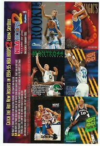 1994 SkyBox  NBA HOOPS Basketball Series 2 Cards Over Size PROMO Card Sheet.