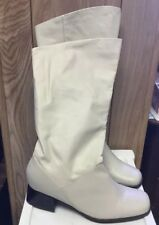 Leather Cream Color Womens Boots Size 9 Markum Worn Once