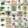 Green Plant Artificial Fake Flowers Leaves Rattan Hanging Greenery Foliage Decor