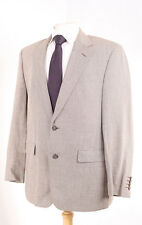 M&S COLLEZIONE BROWN & CREAM HOUNDSTOOTH CHECK WOOL & LINEN SPORTS JACKET 42R
