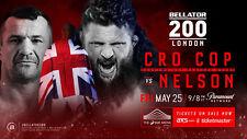 Impresión A5 – 200 Cro Cop Vs Bellator Nelson (MMA UFC artes marciales) de imágenes de cartel
