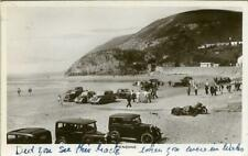 More details for real photographic postcard of old cars on pendine beach, carmarthenshire, wales
