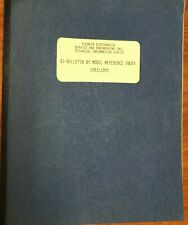 Pioneer SI-Bulletin Model Reference 1983-85 ORIGINAL REFERENCE INDEX