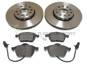 AUDI A4 CABRIOLET B6 1.8 2.4 02-06 FRONT 2 BRAKE DISCS & PADS (CHECK SIZE 288MM)