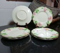 "6 Franciscan Desert Rose 6 3/8"" Bread and Butter Plates USA 3 of 3 - Excellent"