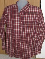 Haggar Clothing Men's Large Long Sleeve Plaid Dress Shirt