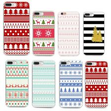 Christmas Cartoon Silicone TPU Pattern Phone Case Shockproof Cover for iPhone 8