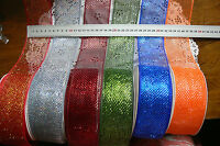 Mesh Sparkling Firm Edge 5 Mtr Lengths 6cmW 6 Dark Bright colour Choice 5907 L10