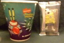 SpongeBob Soccer Ball Player AND Friend Or Foe Paper Cup,  2007, Lot of 2