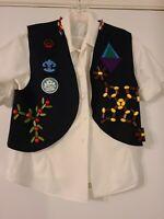 Vintage 1950/60's Camp Fire Girls Uniform Vest, Short Sleeve Shirt & Socks