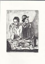 PABLO PICASSO original old Etching Lithograph signed