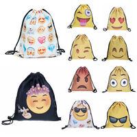 Waterproof Emoji Backpack Gym PE Swim Beach School Travel Sport Bag