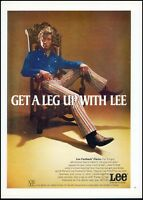 1970 Lee jeans fastback flares man chir boots vintage photo Print Ad ads20