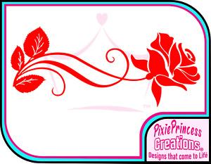 Flower A Rose Vinyl Sticker Car Poster Wall Room Window Pretty Home Decor Decal
