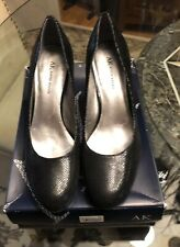 de52af1847f anne klein shoes 8.5 Black Pumps Leather Preowned In The Box