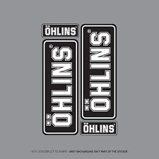 SKU2013 - Set Of 4 Ohlins Stickers - Decals - Motorcycling -  Black & White