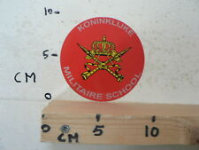 STICKER,DECAL KONINKLIJKE MILITAIRE SCHOOL RARE STICKER LEGER ARMY