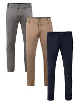 Threadbare New Men's Chinos Slim Fit Trousers Casual Cotton Summer Chino Pants