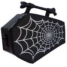 Kreepsville 666 Spiderweb Foil Emo Goth Punk Rocker Coffin Purse Bag BGCSWF