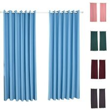 Windows Curtains Simple Style Shade Curtain Living Room Window Drapes Pure Color