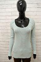 Maglia Donna TOMMY HILFIGER Taglia Size S Maglietta Shirt Woman Cotone a Righe