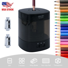 Black Automatic Pencil Sharpener Electric Battery Power Safe Office Classroom