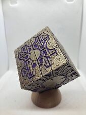 PAINTED Hellraiser Inspired PLA Puzzle Box (Purple with Champagne Gold)