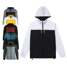 Men's Hooded Zipper Windproof Lightweight Windbreaker Active Outdoor Jacket